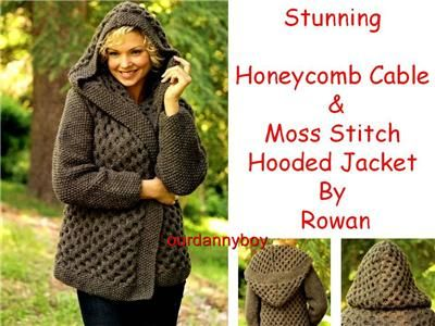 Rowan Ladies Chunky Knitting Patterncable Moss Stitch Textured