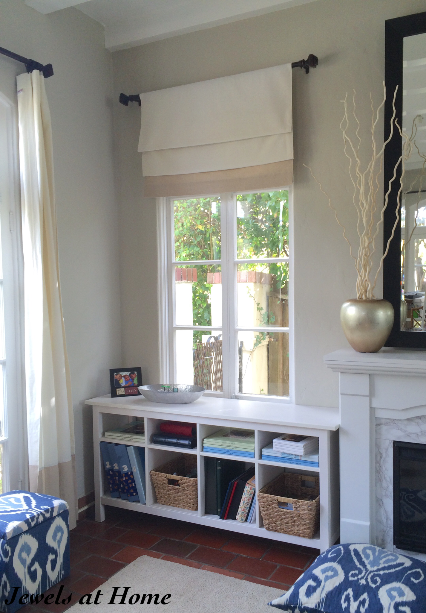 From Curtain Panels to Faux Roman Shades  For the Home