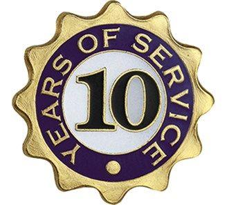 10 Years Of Service Pin Jones School Supply 10 Things Employee Awards 10 Years