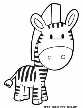 Printable Zebra Preschool Coloring Page For Kids Zebra Coloring Pages Giraffe Coloring Pages Preschool Coloring Pages