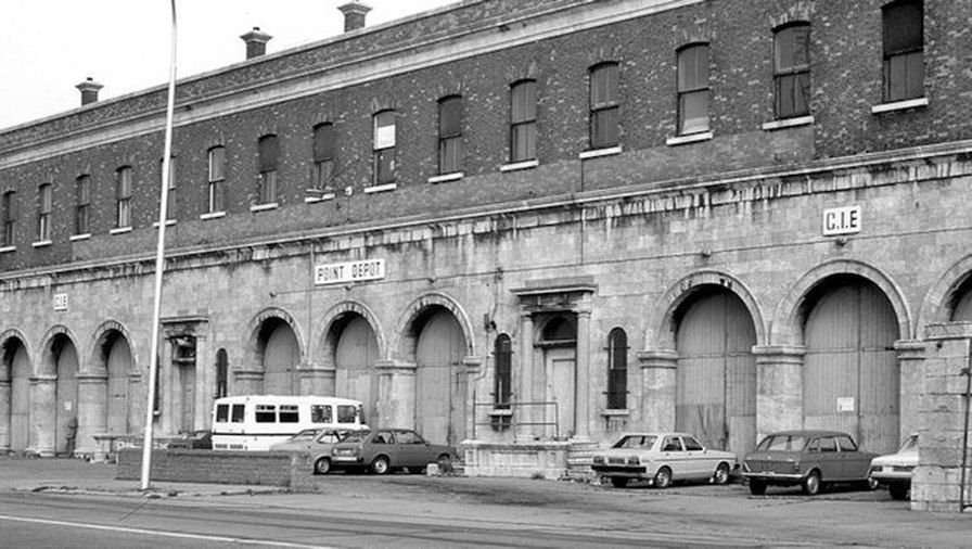 Formerly The O2 and previously called the Point Depot.  This building  started life as a large cast-iron warehouse,  It was built in 1878 by the Great Southern and Western Railway Company as a riverside goods depot. The location beside the point at which the East Wall and North Wall met provided the buildings name.