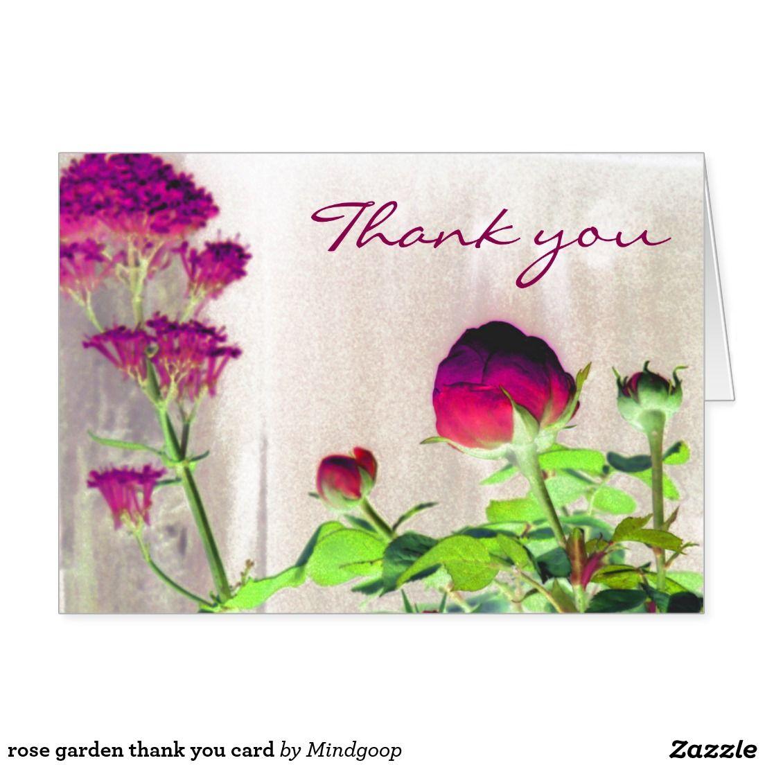 rose garden thank you card