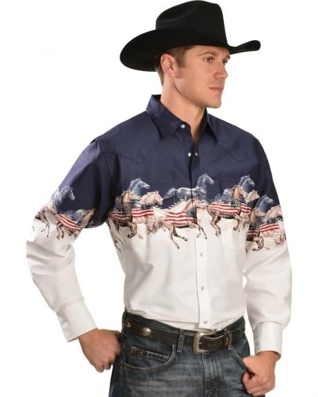 Download Cumberland Outfitters Men's American Horse Border Western ...