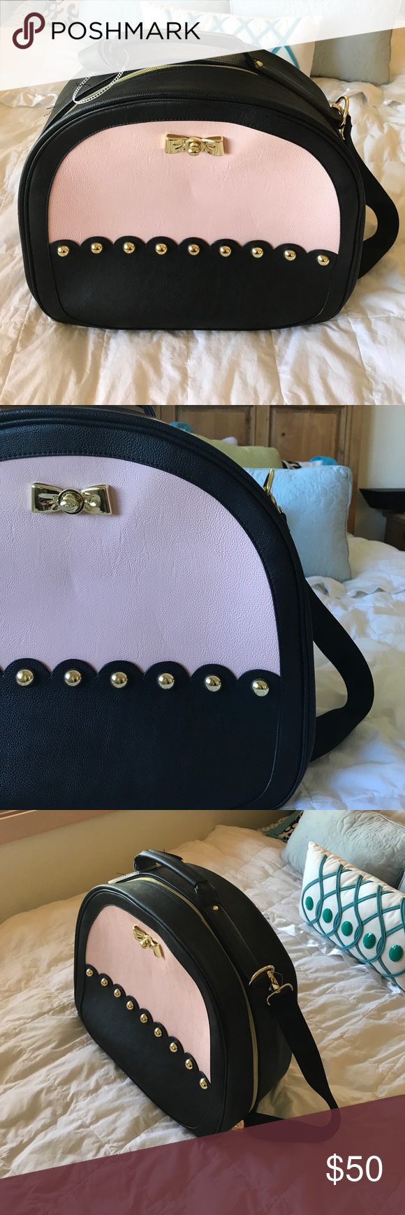 Betsey Johnson Small Carry On Only used once. Beautiful little carry on! Betsey Johnson Bags Travel Bags