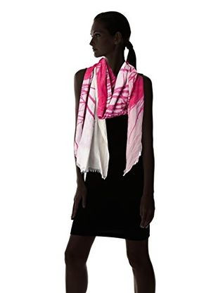 Leigh & Luca Women's Speacockpr Peacock Digital Scarf, Pink, One Size