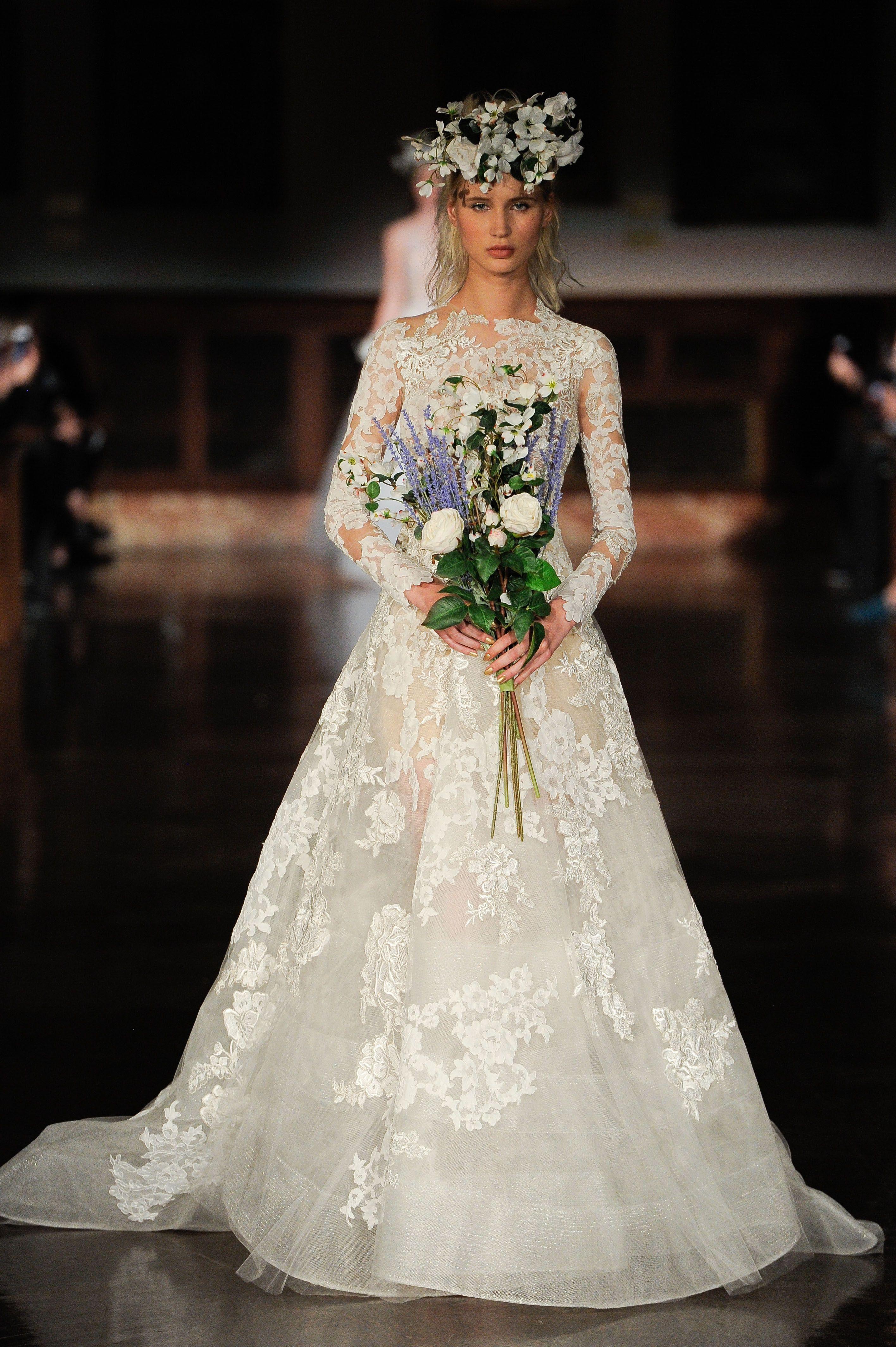 Reem Acra Bridal Collection Reem Acra Bridal Fashion Week Spring 2019 New York City Ap Reem Acra Wedding Dress Boho Wedding Dress Wedding Dress Organza