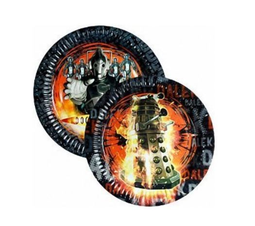 Dalek and Cyberman plates!