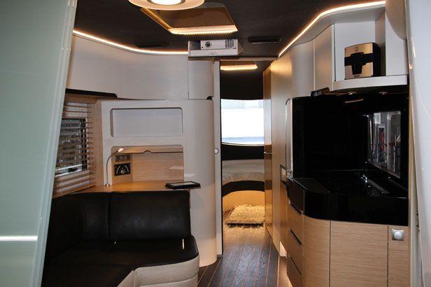 Caravisio Concept Caravan By Knaus Tabbert Tuvie Luxury Campers Caravan Interior Luxury Caravans