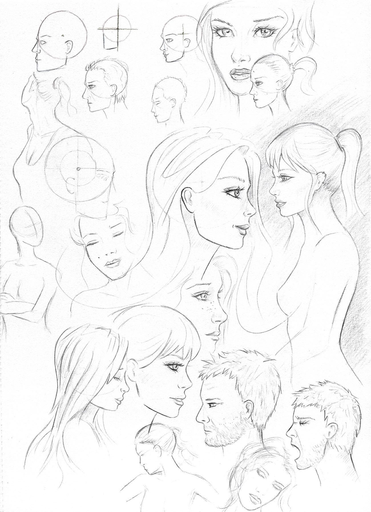 Gesicht Anhand Einer Schablone Skizzieren Gesichter Zeichnen Kunstproduktion Coole Malvorlagen