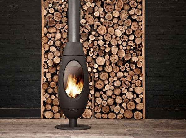 contemporary gas free standing fireplace modern Google Search