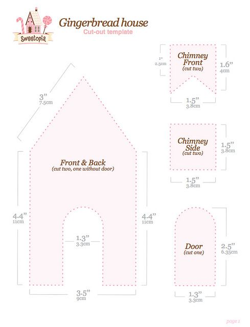 gingerbread house template printable a4  Gingerbread House Template Free Printable | Gingerbread ...