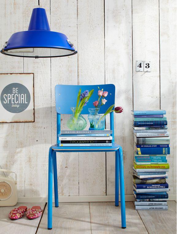 Blau, Blau, Blau #Kolorat #interior #Farbe #Stühle #blau