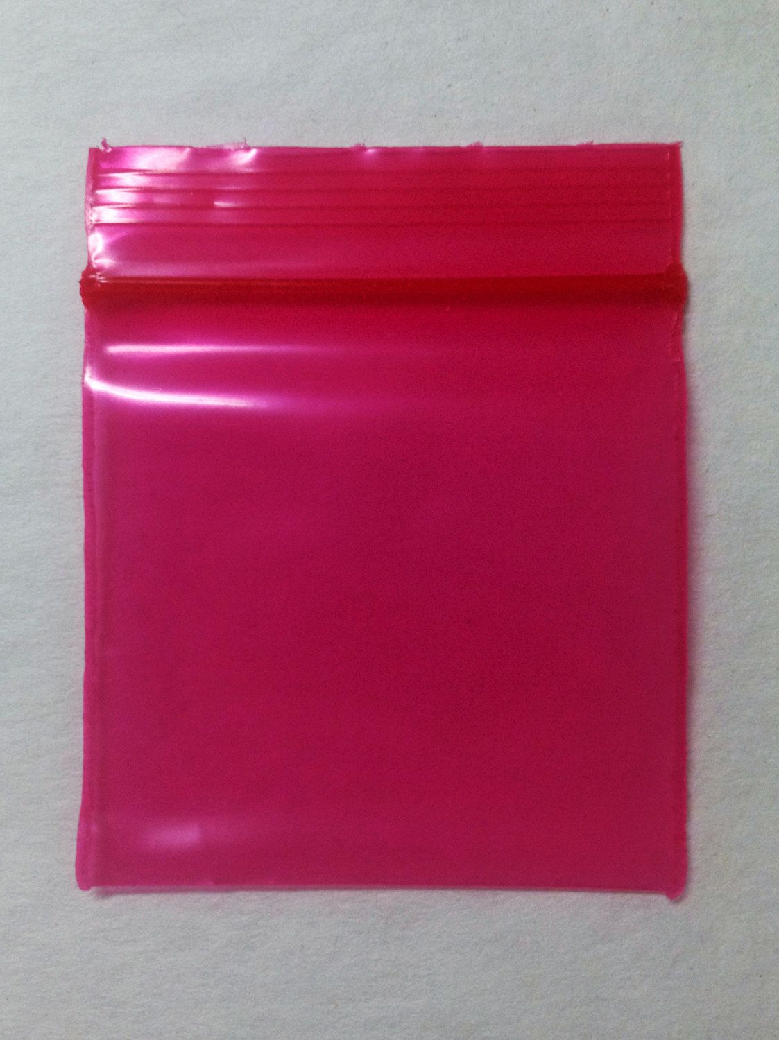 100 1 5 X Red Pink Plastic Small Baggies Rave 1515 Tiny Ziplock Dime Bags By Nooyouproducts On Etsy