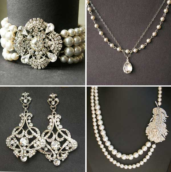 Vintage Bridal Jewelry perfect for the Something Old so Beautiful