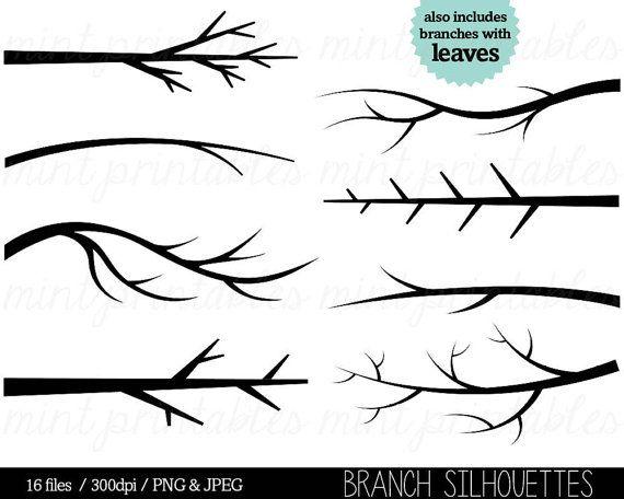 Branch Clipart Tree Branch Silhouette Clip Art Tree Etsy In 2021 Tree Drawing Family Tree Drawing Silhouette Clip Art