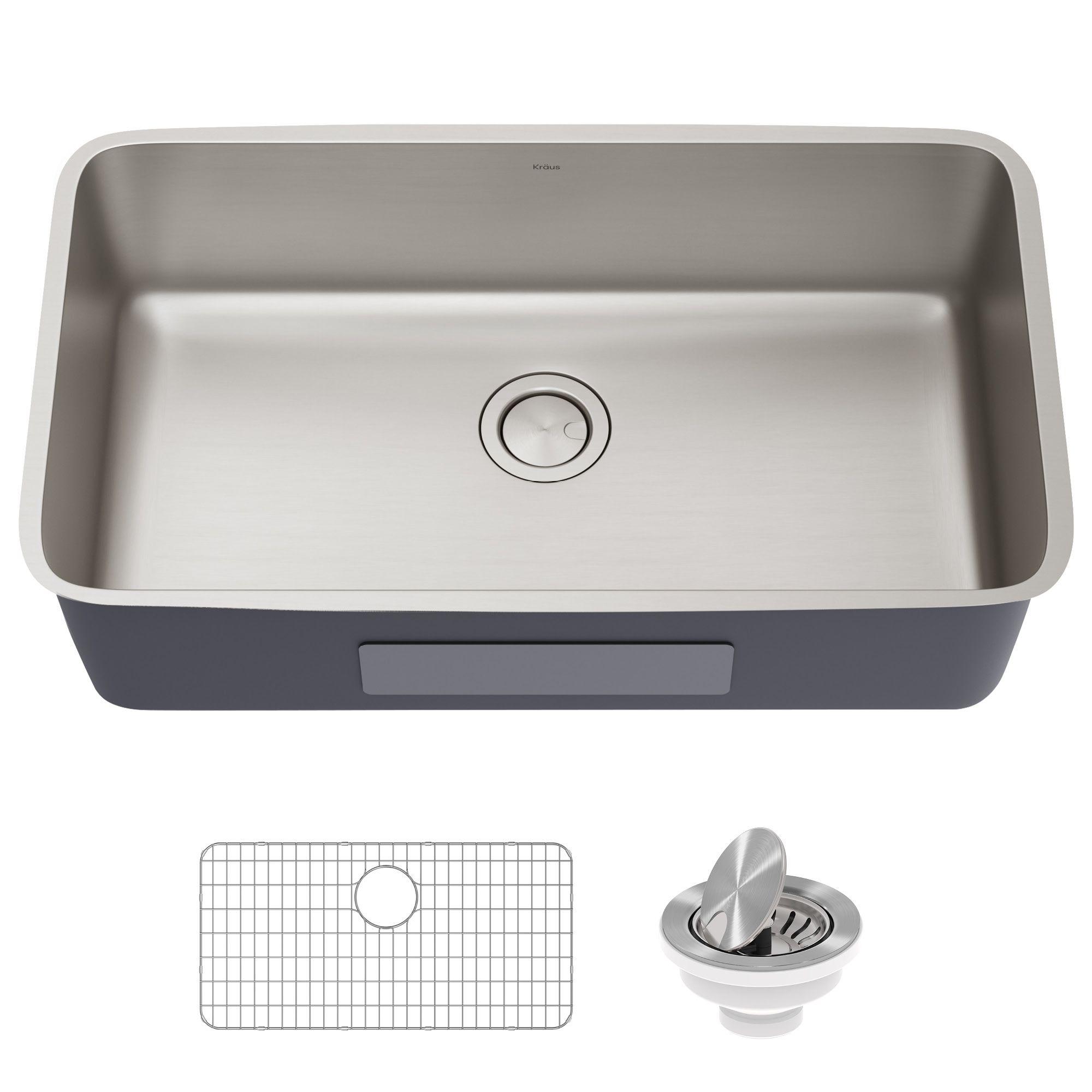 33 Undermount 16 Gauge Antibacterial Stainless Steel Single Bowl Kitchen Sink In 2021 Clean Kitchen Sink Washing Dishes Kitchen Safe