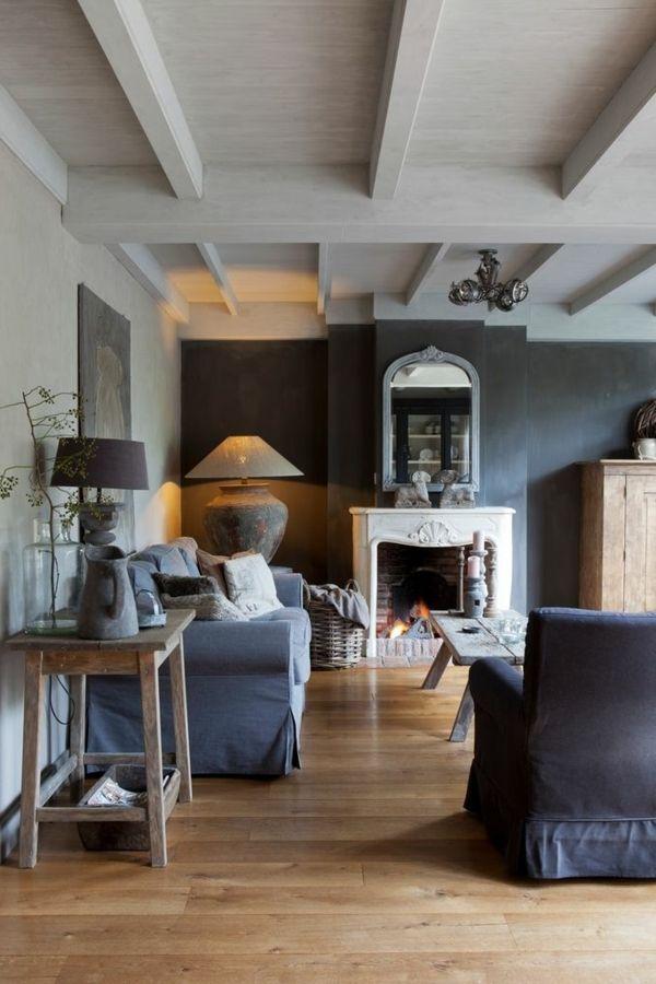 Grau als Wandfarbe Wie schön ist das denn! interior design - Wohnzimmer Design Wandfarbe Grau