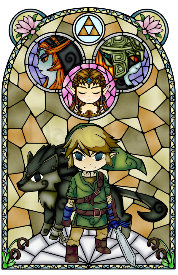 Another Wind Waker Style Piece Twilight Princess In The Wind Waker Stained Glass Style I Couldn T Decide Whether Or No Zelda Tattoo Legend Of Zelda Zelda Art