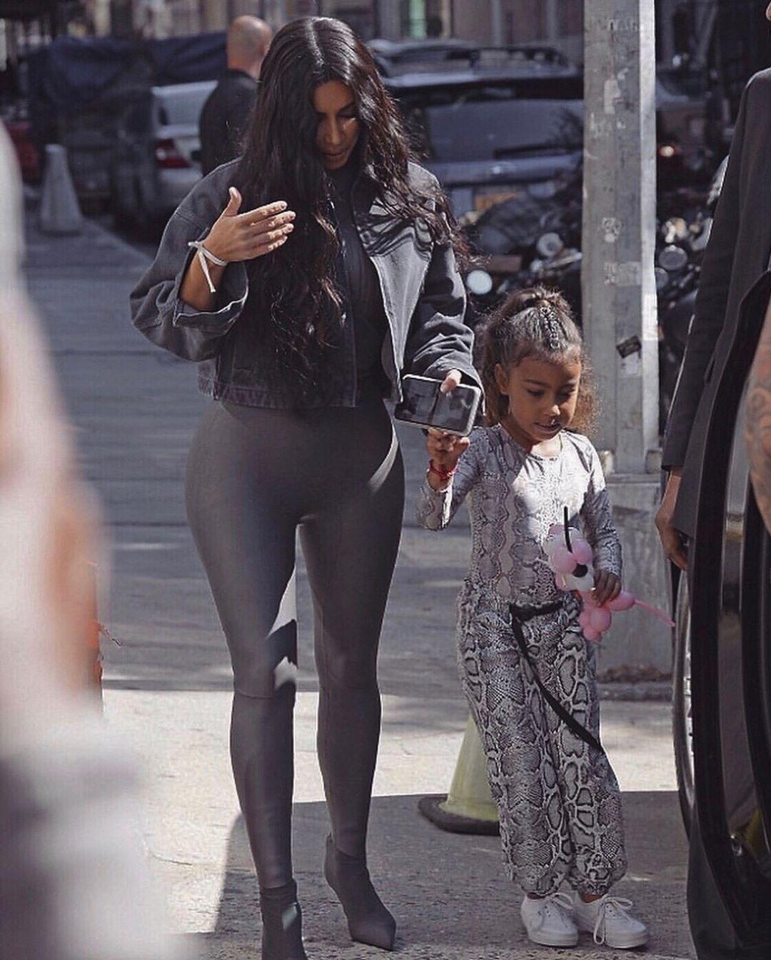 Snake Skin Drip On My Little Northie Kim Kardashian Style Kim Kardashian And North Fashion