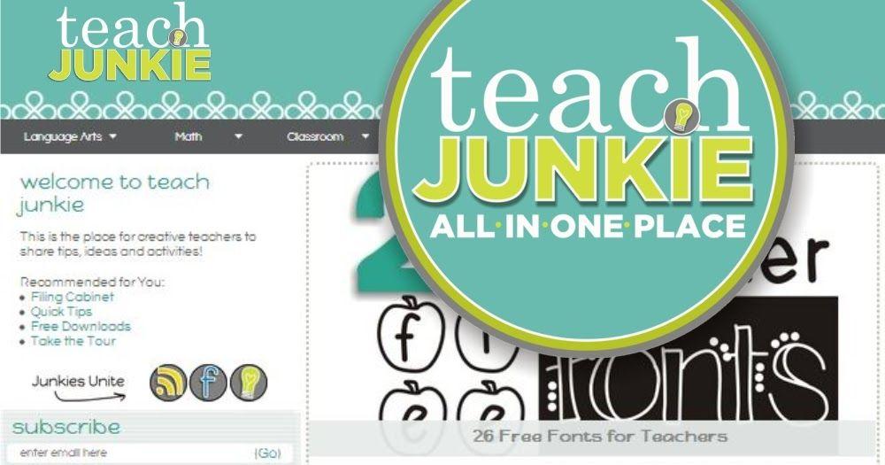 Teaching Blog Addict: Teach Junkie - A Teacher Feature Loaded With Freebies