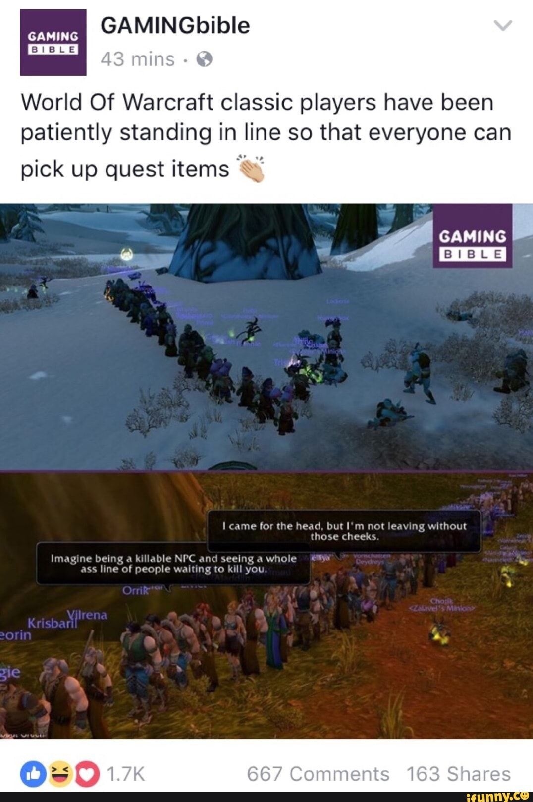 Wow Classic Memes : classic, memes, World, Warcraft, Classic, Players, Patiently, Standing, Everyone, Quest, Items, IFunny, Funny,, Warcraft,