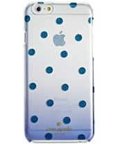 kate spade new york Glitter Dot Clear Ombre Resin iPhone 6 Case
