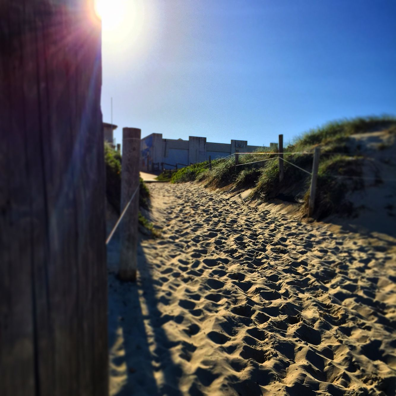 Beach entrance at Hawks Nest