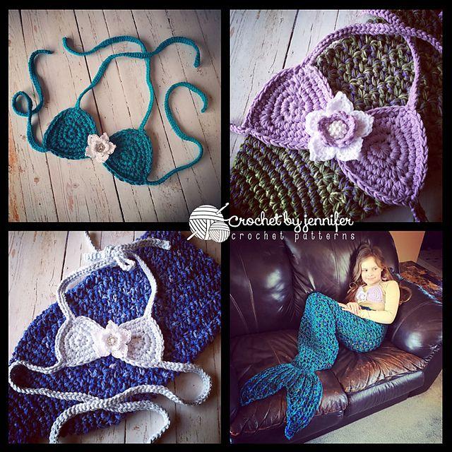 Star Flower Mermaid Bikini Top Pattern By Crochet By Jennifer Star