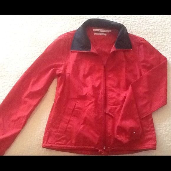 ⚡️PRICE DROP⚡️JACKET Tommy Hilfiger red jacket, 100% polyster. Size marked S P/CH.  Very good condition with no stains or holes. Tommy Hilfiger Jackets & Coats Utility Jackets