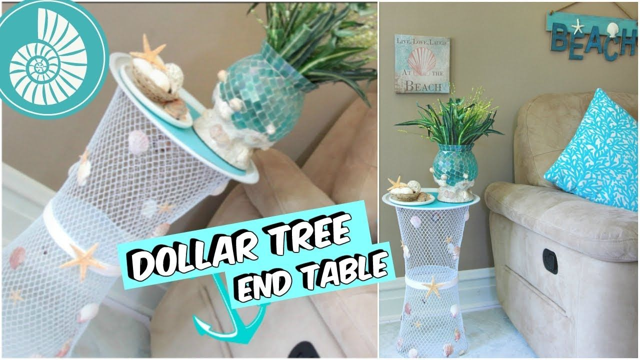 Best Dollar Tree End Table Beach Decor Tutorial Youtube 400 x 300