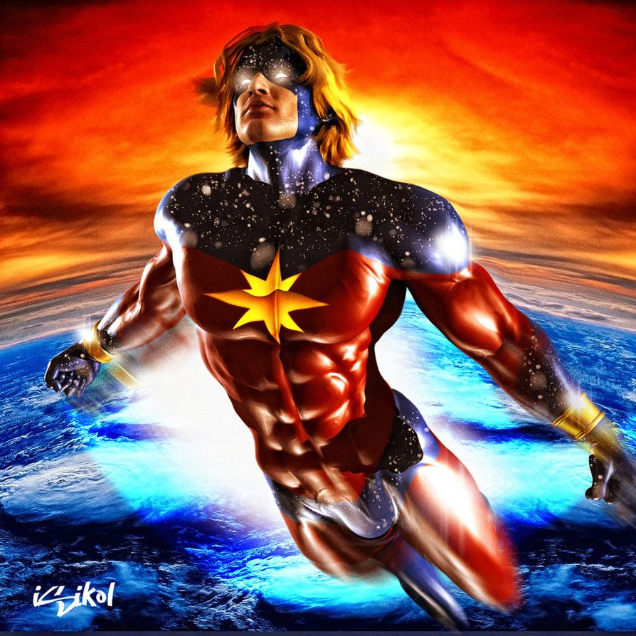 Captain Mar Vel   Original captain marvel, Marvel superheroes ...