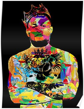 Notorious King Conor Mcgregor Colorful Art  Poster
