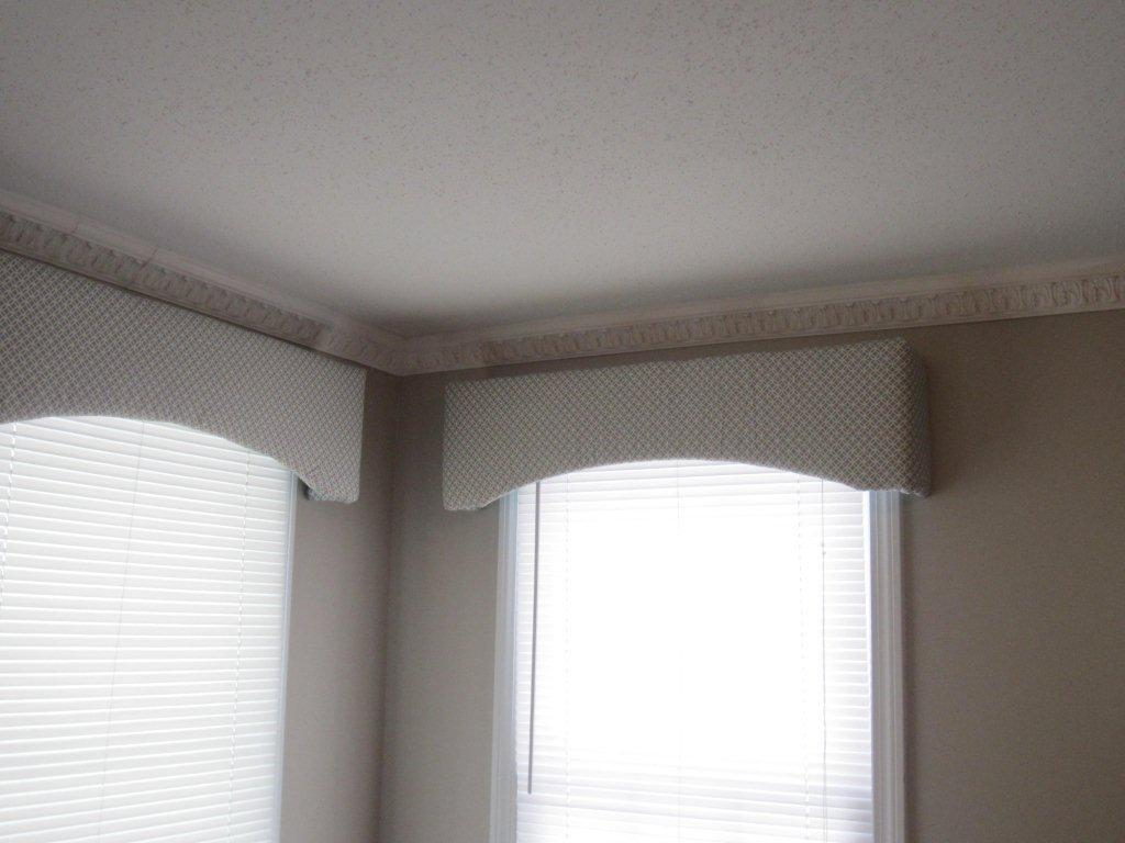 Valences Made From Foam Board Batting Fabric And Glue