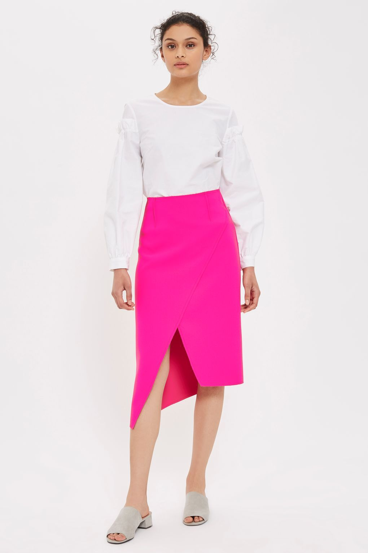 High Waisted Midi Wrap Skirt   Work Wear - Spring/Summer ...