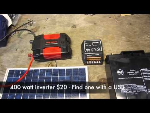 Published On Nov 30 2013 More Details And Parts List How I Built A Portable 10 Watt Polycrystalline Sola Solar Generator Portable Solar Generator Solar Power