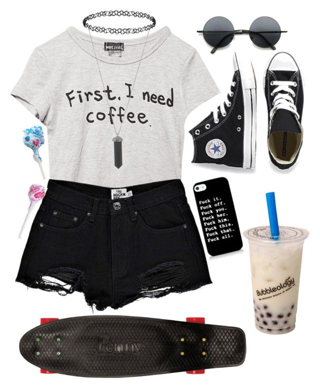 """""""The drug in me is you!"""" by simply-punk ❤ liked on Polyvore featuring Wet Seal, Boohoo, Converse, Karen Kane, Dorothy Perkins, Retrò and Quiksilver"""