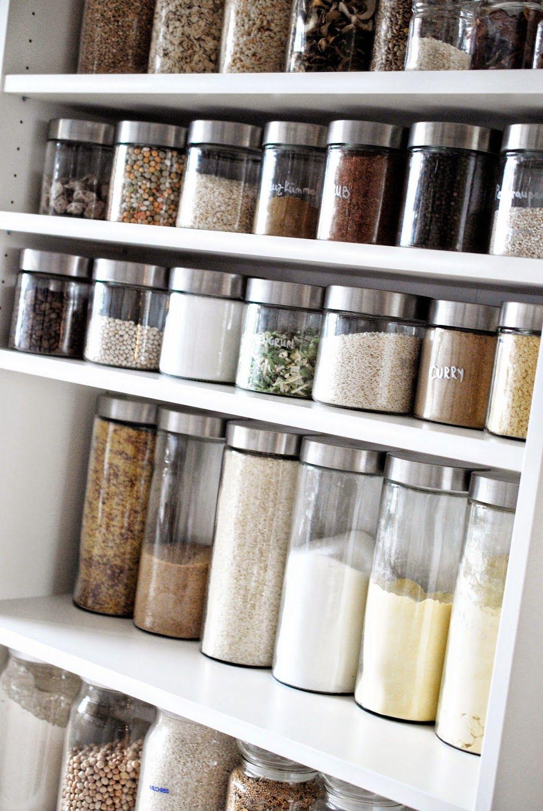 Vorratsschrank organisieren  Speisekammer organisieren, Ordnung