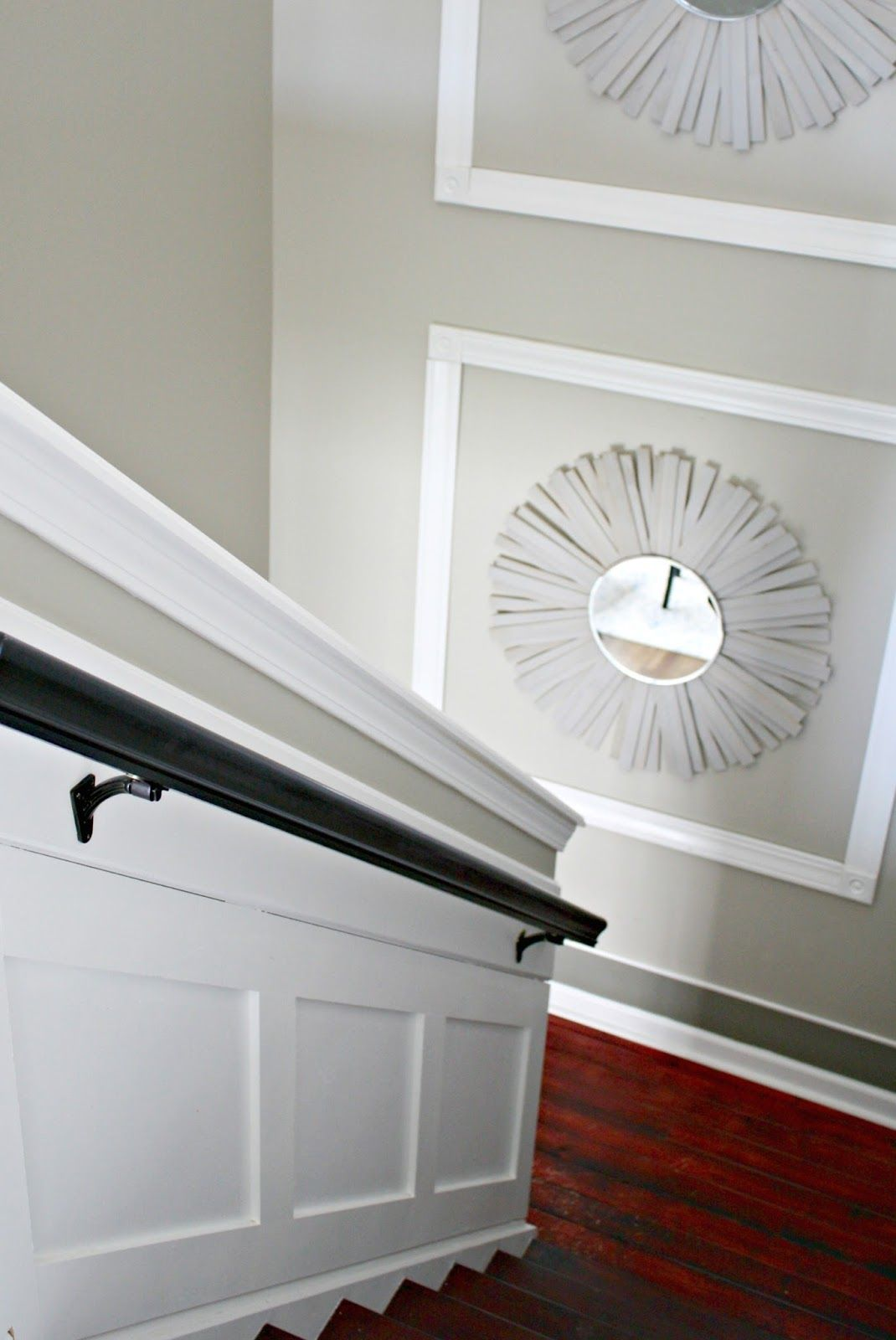 Thrifty decor also trim on tall staircase decorating pinterest staircases walls rh