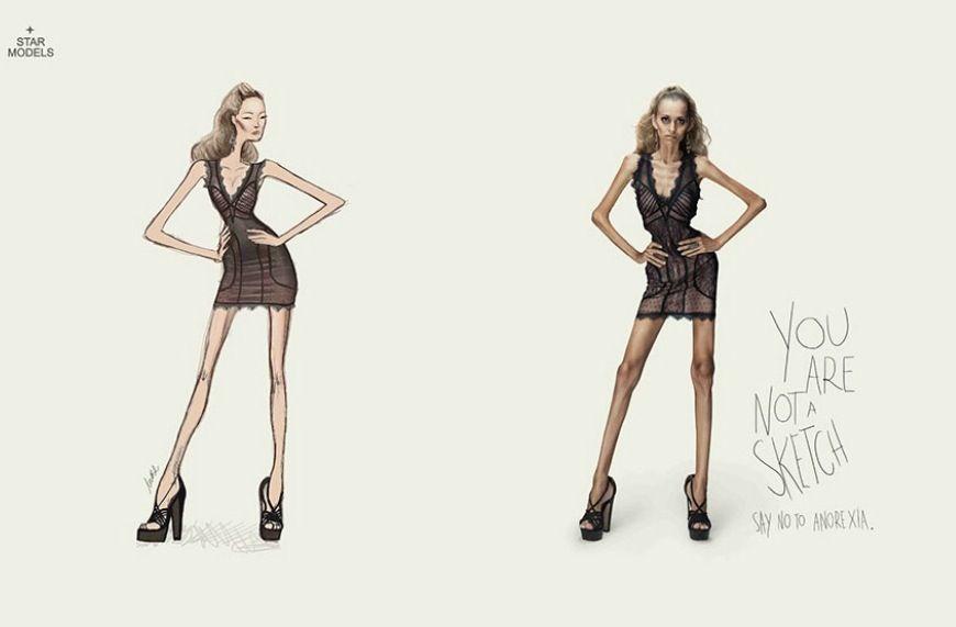 Tu no eres un boceto. Di no a la anorexia