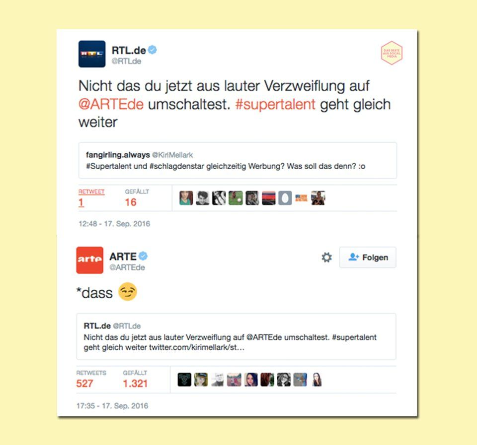 Unterschied RTL-ARTE ;-)