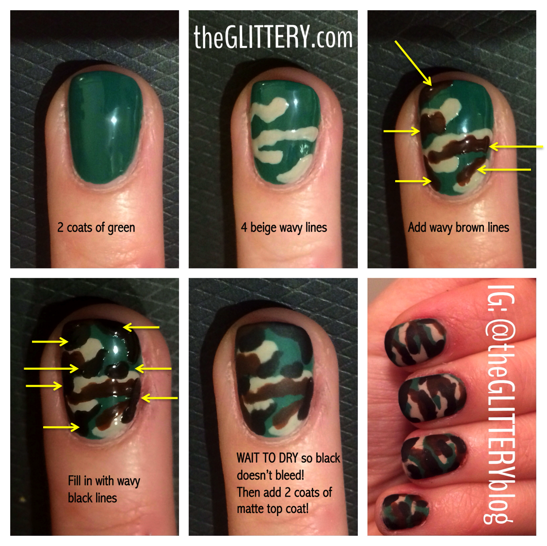 Can We Do This Next Weeekend Matte Camouflage Nail Art Tutorial Katie Hrubec Prus