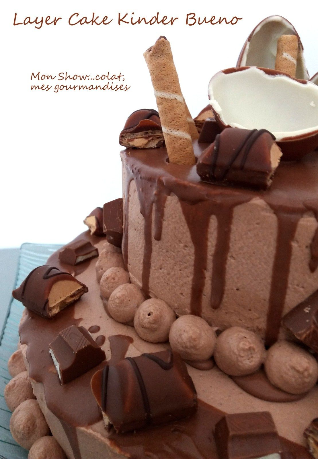 Pièce Montée Layer Cake au Kinder Bueno   Recette layer cake