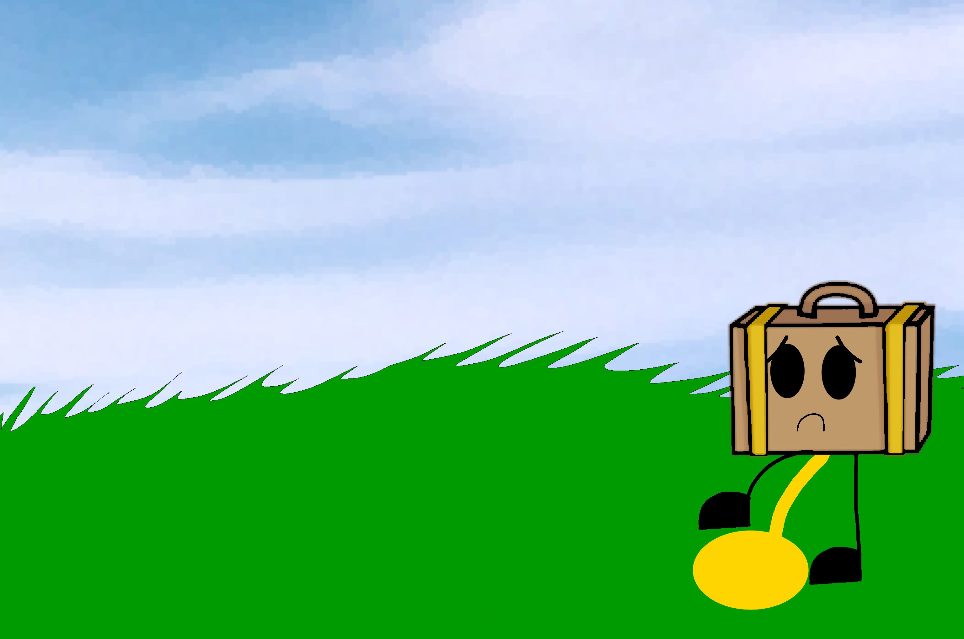 Suitcase is peeing on the grass!? (18+) | My Cartoons