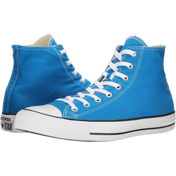 Converse Chuck Taylor All Star Seasonal Hi Classic Shoes, Blue ($33) ❤ liked