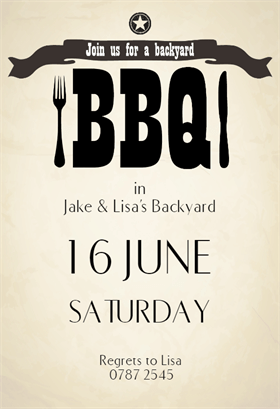 Join Us For A Backyard Bbq  Free Printable Party Invitation