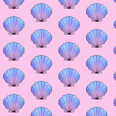 Colorful fabrics digitally printed by Spoonflower - Peach Seashell