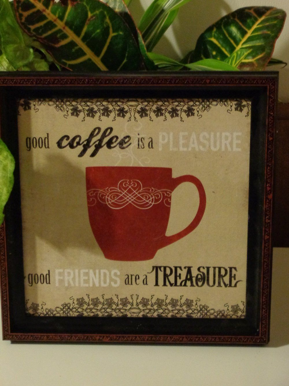 Coffeecupkitchensignwallplaque only 1795 wake up smell this kitchen wall decor features a decorative red coffee cup and has the caption good coffee is a pleasure amipublicfo Image collections