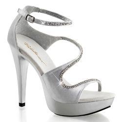 Satin Strass Sandalette | Satin schuhe, Abendschuhe, Silber