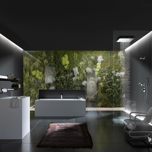 Relaxing nature bathroom design in black and white modern shower shower bathroom and bathroom - Extraordinary and relaxing contemporary bathroom designs ...