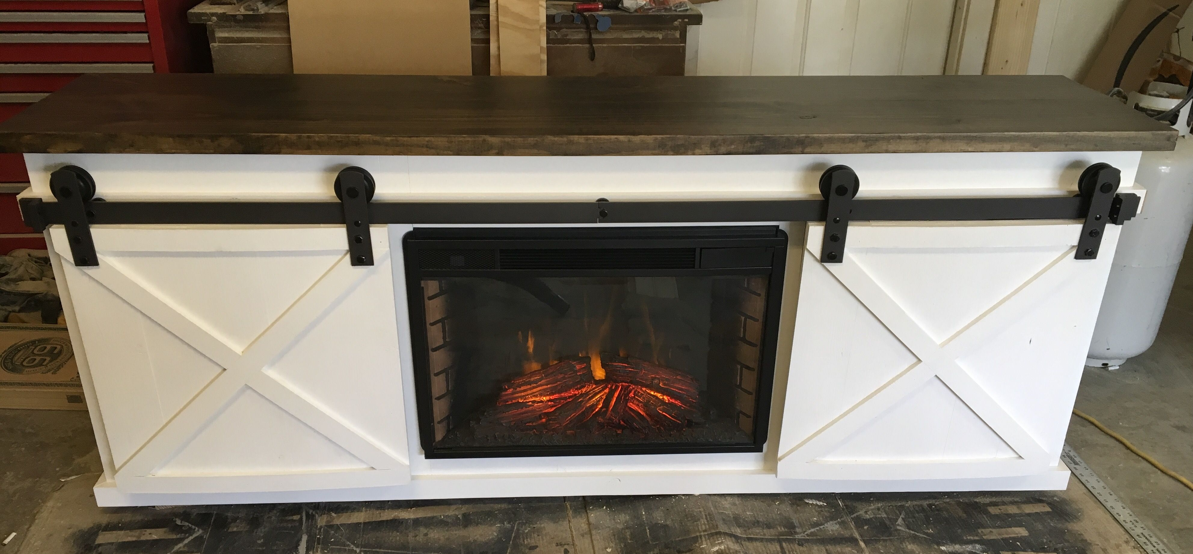 Tv Console With Fireplace Insert Diy Projects Diy Furniture Tv